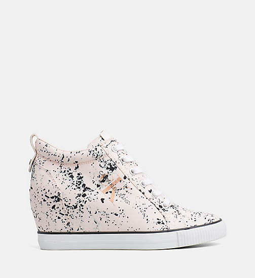 CALVIN KLEIN JEANS Splatter Wedge Sneakers - PINK - CALVIN KLEIN JEANS TRAINERS - main image