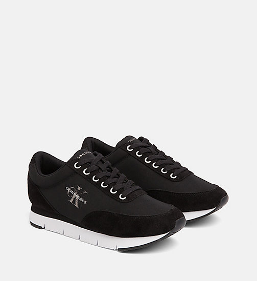 CALVIN KLEIN JEANS Nylon Sneakers - BLACK - CALVIN KLEIN JEANS TRAINERS - detail image 1