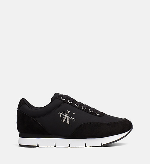 CALVIN KLEIN JEANS Nylon Sneakers - BLACK - CALVIN KLEIN JEANS TRAINERS - main image