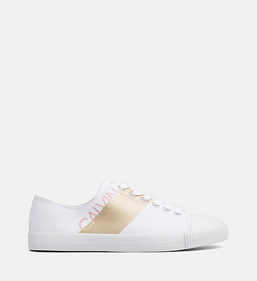 CALVIN KLEIN JEANS Nylon Sneakers - WHITE/GOLD - CALVIN KLEIN JEANS TRAINERS - main image