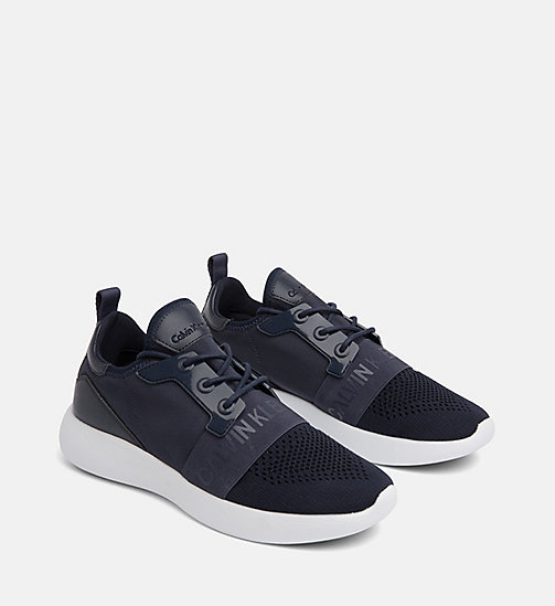 CALVIN KLEIN JEANS Knit Sneakers - NAVY - CALVIN KLEIN JEANS TRAINERS - detail image 1