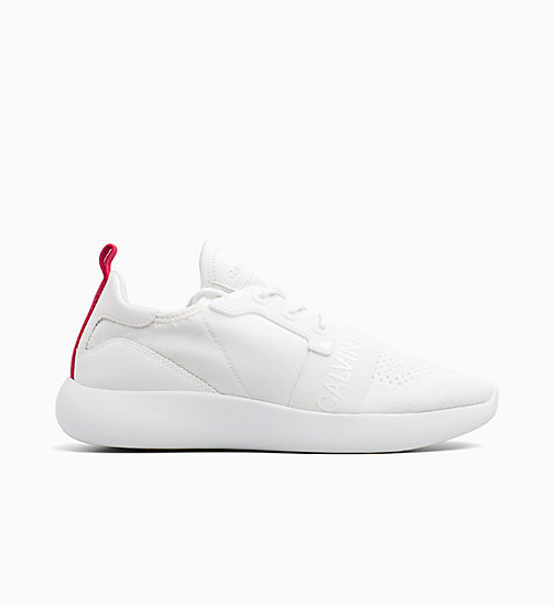 CALVIN KLEIN JEANS Knit Sneakers - WHITE - CALVIN KLEIN JEANS TRAINERS - main image