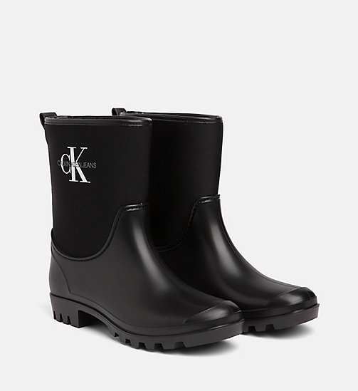 CALVIN KLEIN JEANS Rubber Ankle Boots - BLACK - CALVIN KLEIN JEANS BOOTS - detail image 1