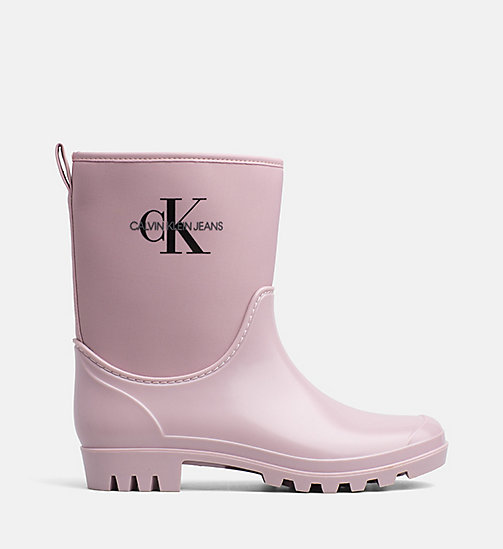 CALVIN KLEIN JEANS Rubber Ankle Boots - CHINTZ ROSE - CALVIN KLEIN JEANS BOOTS - main image