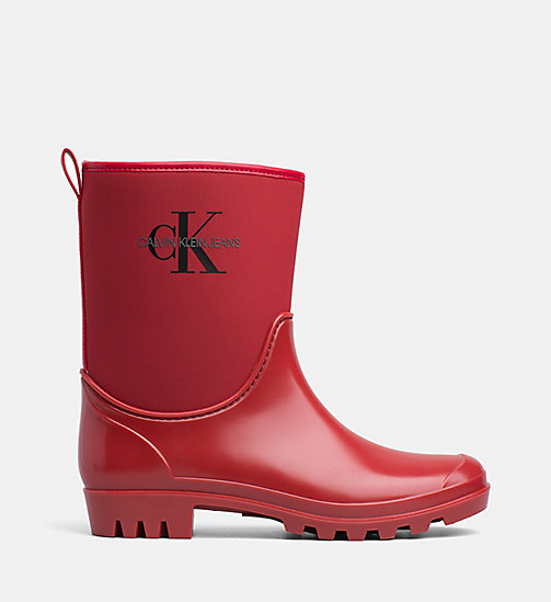 CALVIN KLEIN JEANS Rubber Ankle Boots - SCARLET - CALVIN KLEIN JEANS BOOTS - main image