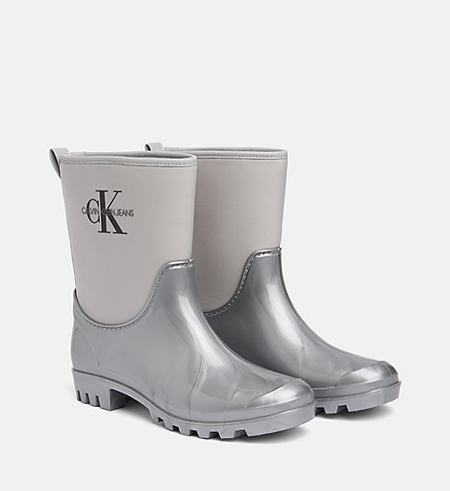 CALVIN KLEIN JEANS Rubber Ankle Boots - SILVER - CALVIN KLEIN JEANS BOOTS - detail image 1
