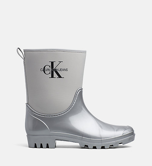 CALVIN KLEIN JEANS Rubber Ankle Boots - SILVER - CALVIN KLEIN JEANS BOOTS - main image