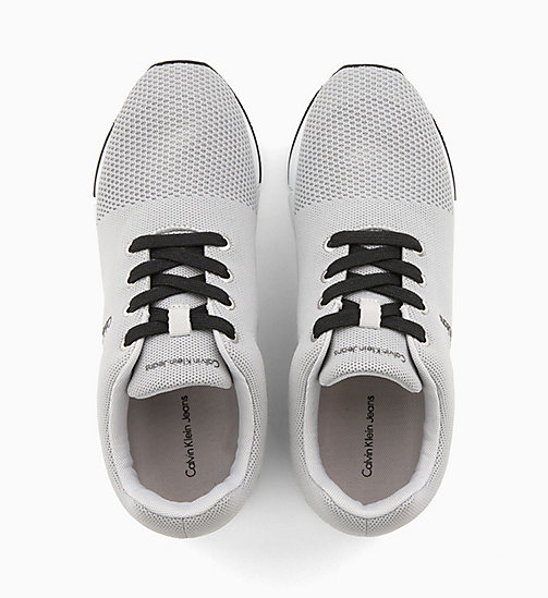 CALVIN KLEIN JEANS Mesh Trainers - SILVER - CALVIN KLEIN JEANS TRAINERS - detail image 1