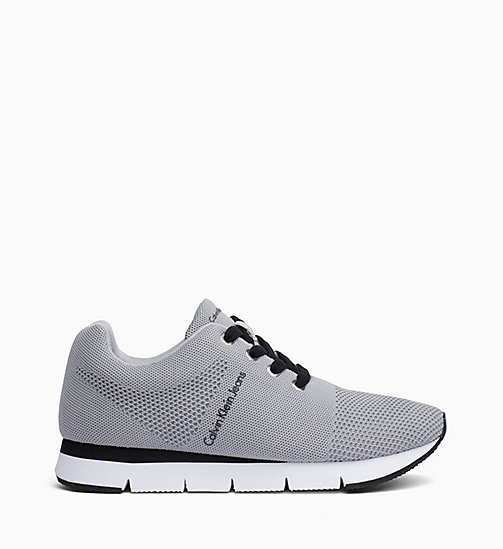 CALVIN KLEIN JEANS Mesh Trainers - SILVER - CALVIN KLEIN JEANS TRAINERS - main image