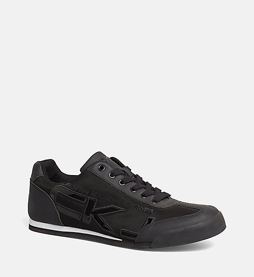 CALVIN KLEIN JEANS Matte Sneakers - BLACK - CALVIN KLEIN JEANS SHOES & ACCESSORIES - main image
