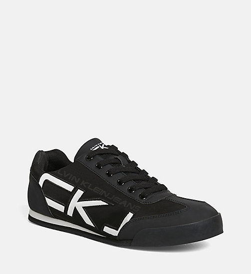 CALVIN KLEIN JEANS Matte Sneakers - BLACK/BLACK-WHITE - CALVIN KLEIN JEANS TRAINERS - main image