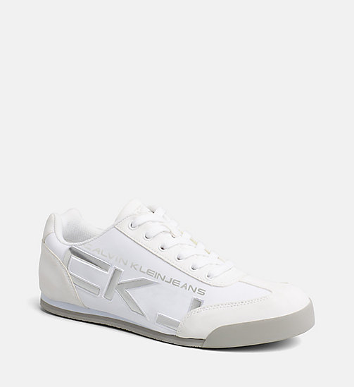 CALVIN KLEIN JEANS Matte Sneakers - WHITE/SILVER - CALVIN KLEIN JEANS TRAINERS - main image