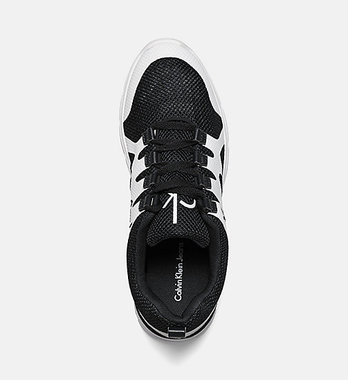 CALVIN KLEIN JEANS Mesh Sneakers - BLACK/BLACK-WHITE - CALVIN KLEIN JEANS TRAINERS - detail image 1