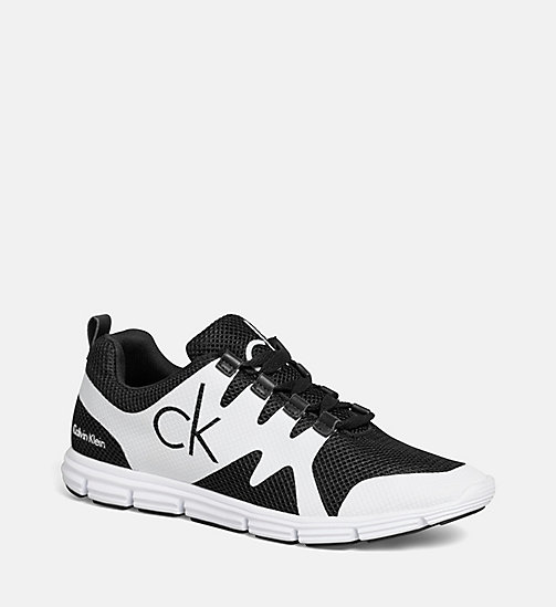 CALVIN KLEIN JEANS Mesh Sneakers - BLACK/BLACK-WHITE - CALVIN KLEIN JEANS TRAINERS - main image