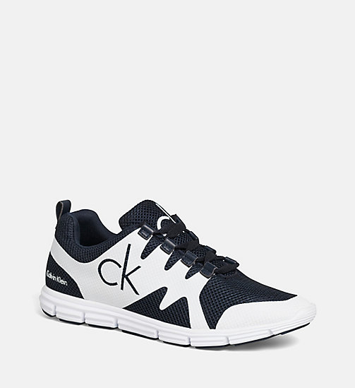 CALVIN KLEIN JEANS Mesh Trainers - BLACK/NAVY/WHITE - CALVIN KLEIN JEANS TRAINERS - main image