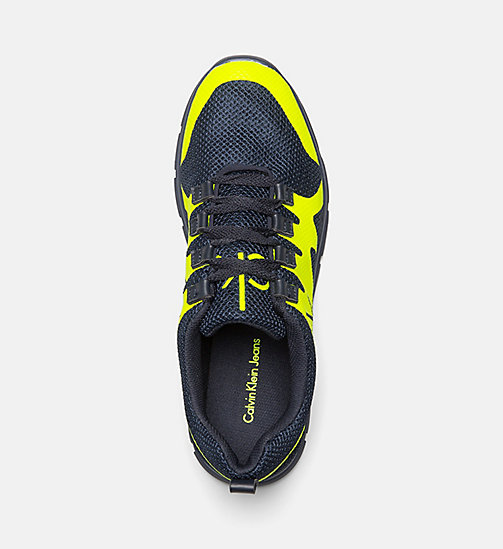 CALVIN KLEIN JEANS Mesh Sneakers - NAVY /YELLOW FLUO - CALVIN KLEIN JEANS SHOES - detail image 1