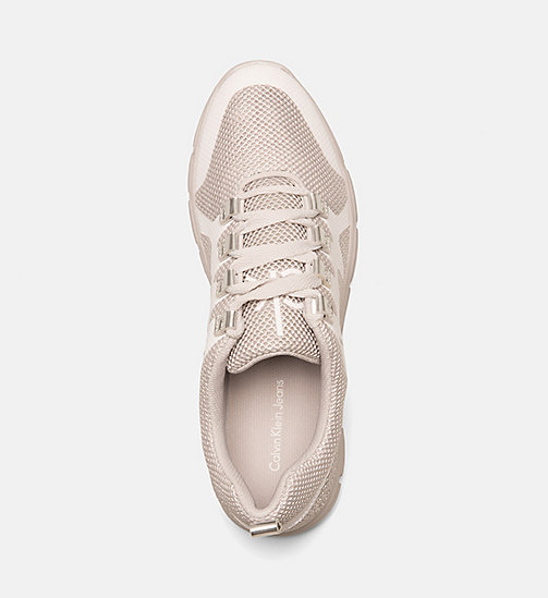 CALVIN KLEIN JEANS Mesh Sneakers - SILVER/WHITE - CALVIN KLEIN JEANS TRAINERS - detail image 1