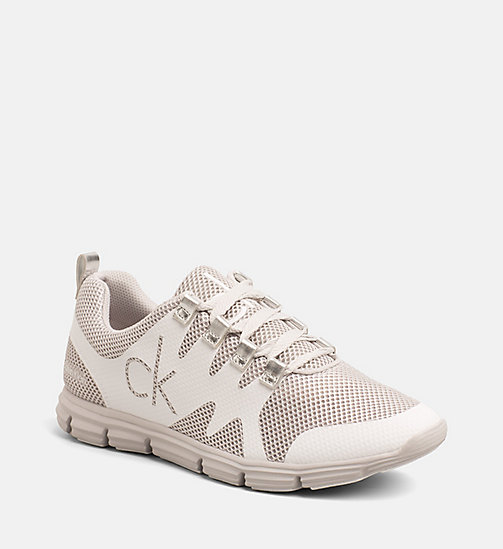 CALVIN KLEIN JEANS Mesh Sneakers - SILVER/WHITE - CALVIN KLEIN JEANS TRAINERS - main image