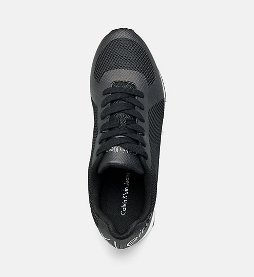 CALVIN KLEIN JEANS Mesh Sneakers - BLACK/BLACK - CALVIN KLEIN JEANS TRAINERS - detail image 1