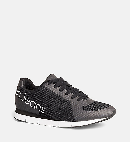 CALVIN KLEIN JEANS Mesh Sneakers - BLACK/BLACK - CALVIN KLEIN JEANS TRAINERS - main image