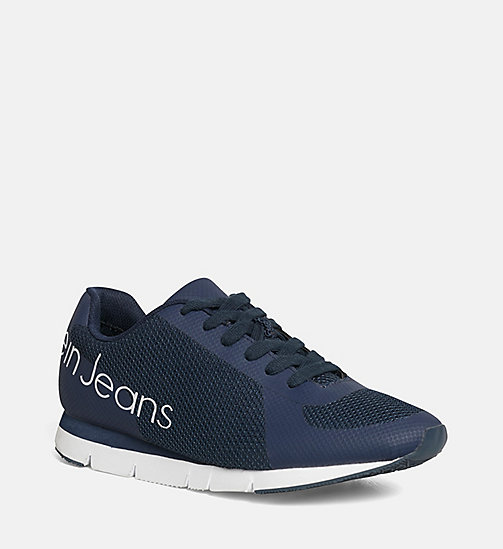 CALVIN KLEIN JEANS Mesh Sneakers - BLACK/NAVY - CALVIN KLEIN JEANS TRAINERS - main image
