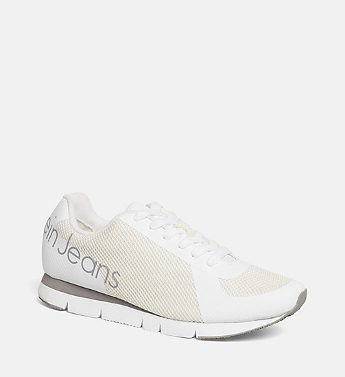 CALVIN KLEIN JEANS Mesh Sneakers - BLACK/WHITE - CALVIN KLEIN JEANS SHOES - main image