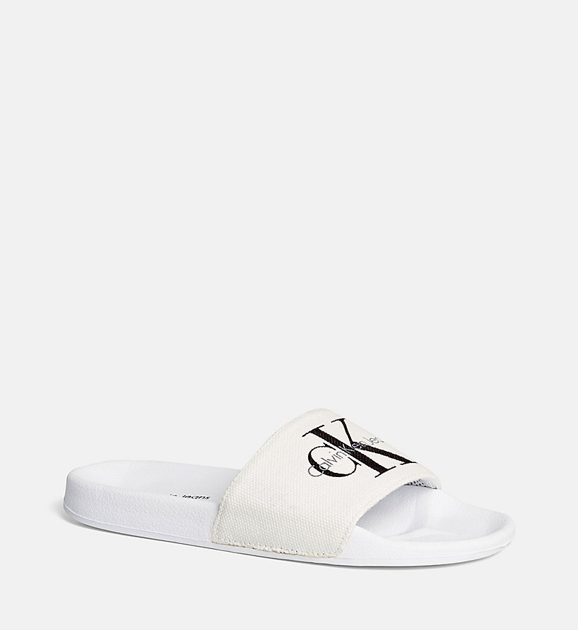 CALVIN KLEIN JEANS Heavy canvas sliders - NAUTICAL BLUE - CALVIN KLEIN JEANS HEREN - detail image 1