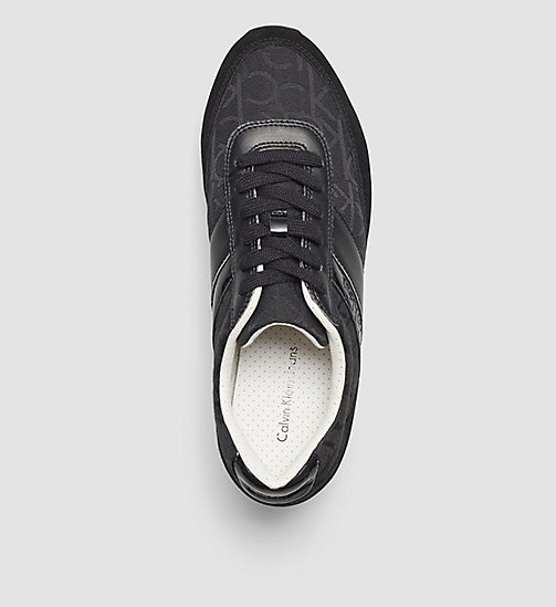 CALVIN KLEIN JEANS Jacquard Suede Sneakers - BLACK/BLACK/BLACK - CALVIN KLEIN JEANS TRAINERS - detail image 1