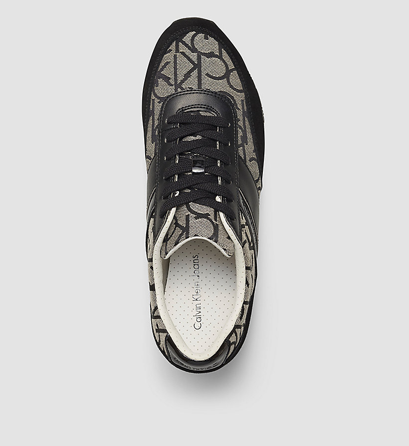 CALVIN KLEIN JEANS Jacquard Suede Sneakers - BLACK/BLACK/BLACK - CALVIN KLEIN JEANS MEN - detail image 3