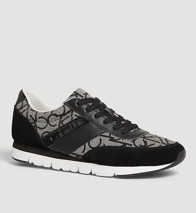 CALVIN KLEIN JEANS Jacquard Suede Sneakers - BLACK/BLACK/BLACK - CALVIN KLEIN JEANS MEN - main image
