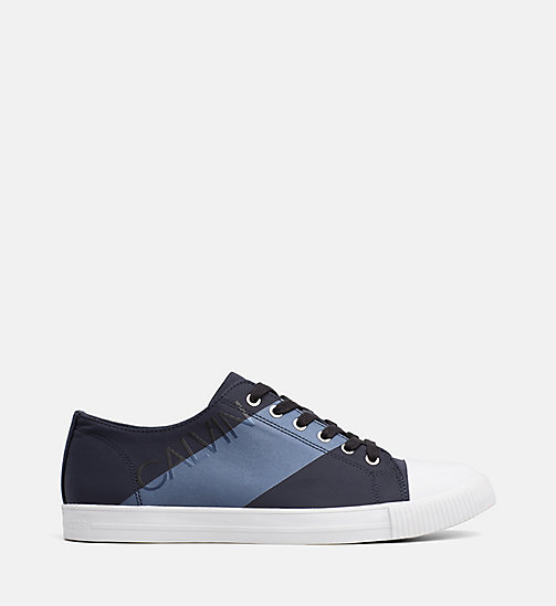 CALVIN KLEIN JEANS Nylon Trainers - NAVY/METAL BLUE -  TRAINERS - main image