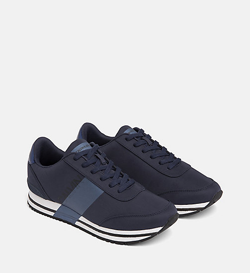 CALVIN KLEIN JEANS Nylon Sneakers - NAVY/METAL BLUE - CALVIN KLEIN JEANS TRAINERS - detail image 1