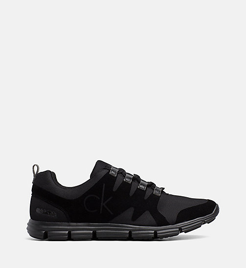 CALVIN KLEIN JEANS Flocked Mesh Sneakers - BLACK - CALVIN KLEIN JEANS TRAINERS - main image