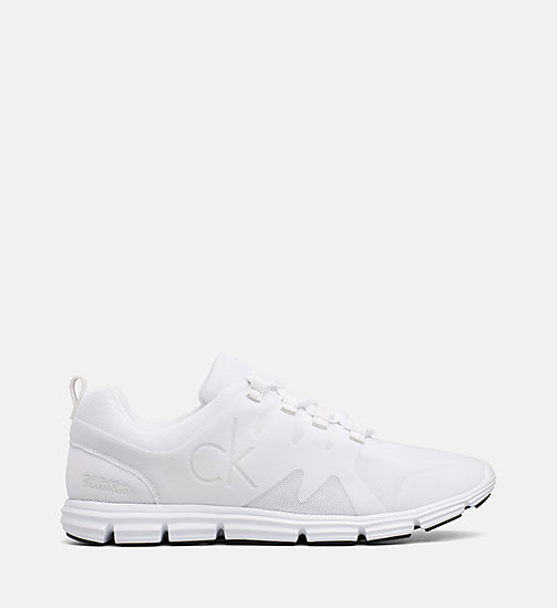 CALVIN KLEIN JEANS Flocked Mesh Sneakers - WHITE - CALVIN KLEIN JEANS TRAINERS - main image