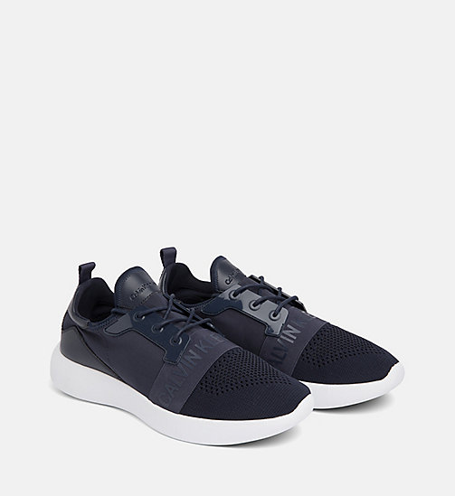 CALVIN KLEIN JEANS Knit Trainers - NAVY - CALVIN KLEIN JEANS TRAINERS - detail image 1
