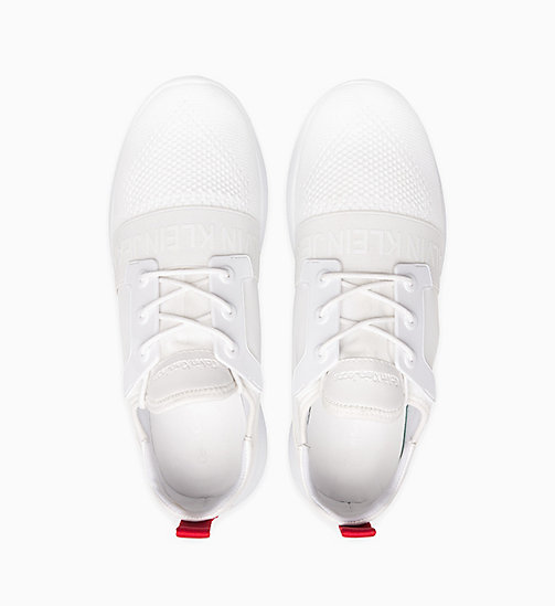 CALVIN KLEIN JEANS Knit Trainers - WHITE - CALVIN KLEIN JEANS TRAINERS - detail image 1