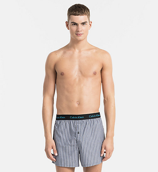 CALVINKLEIN Slim Fit Boxers - TRIPLE SKINNY STRIPE BLACK -  UNDERWEAR - main image