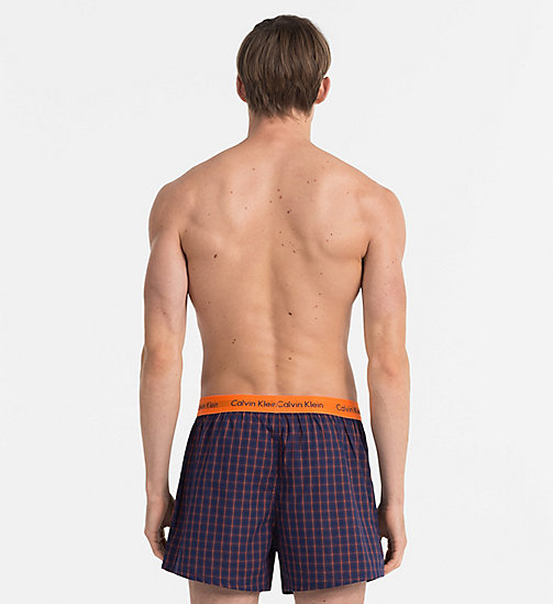 CALVINKLEIN Slim Fit Boxers - CARY PLAID MAGESTIC - CALVIN KLEIN BOXERS - detail image 1