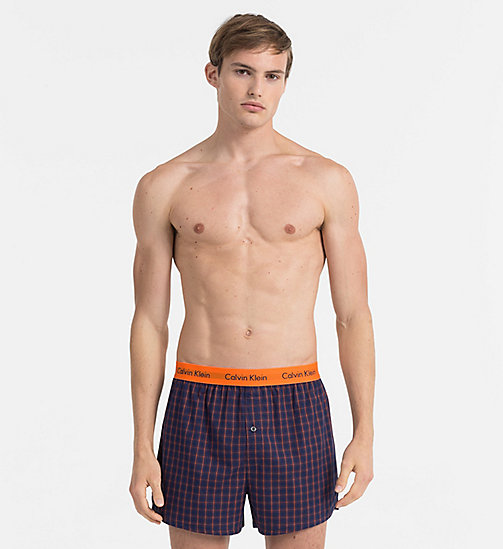 CALVINKLEIN Slim Fit Boxers - CARY PLAID MAGESTIC - CALVIN KLEIN BOXERS - main image