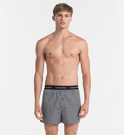 CALVINKLEIN Slim Fit Boxers - TRIANGLE WEDGE PRINT BLACK - CALVIN KLEIN BOXERS - main image