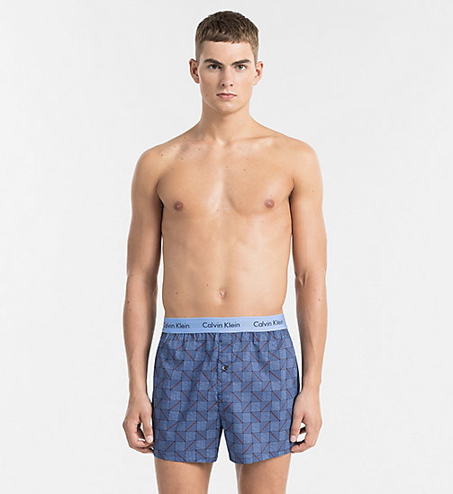 CALVINKLEIN Slim Fit Boxers - STRUCTURED PRINT MAGESTIC - CALVIN KLEIN BOXERS - main image