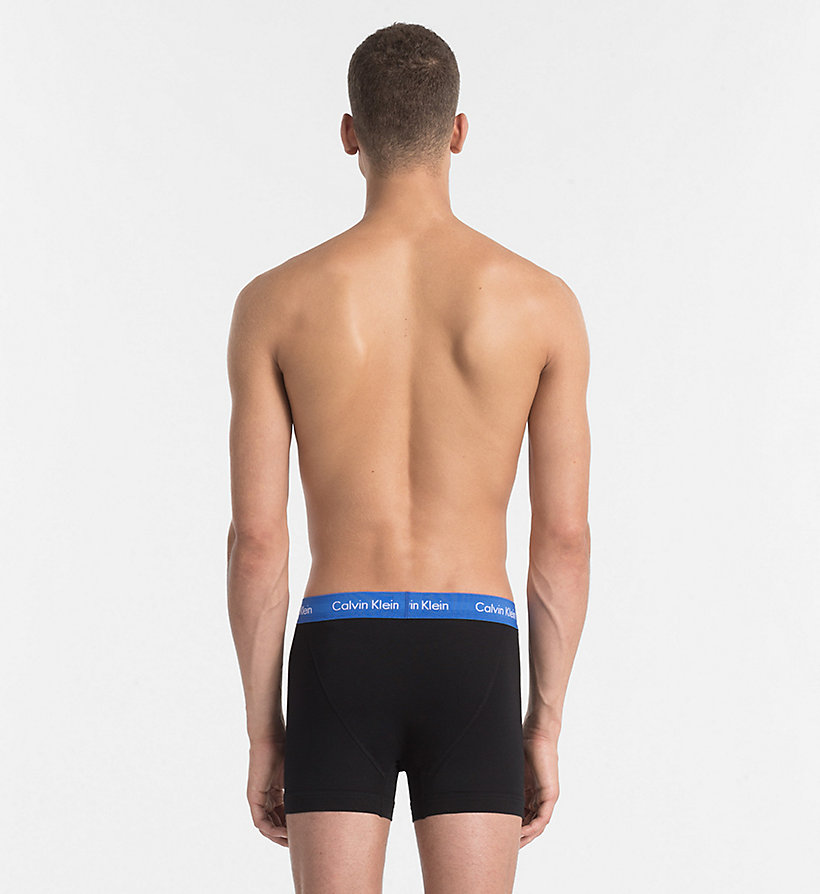 CALVINKLEIN 3 Pack Trunks - Cotton Stretch - BLACK W BLACK / DYLAN RED / HUNSTMAN WB - CALVIN KLEIN UNDERWEAR - detail image 2