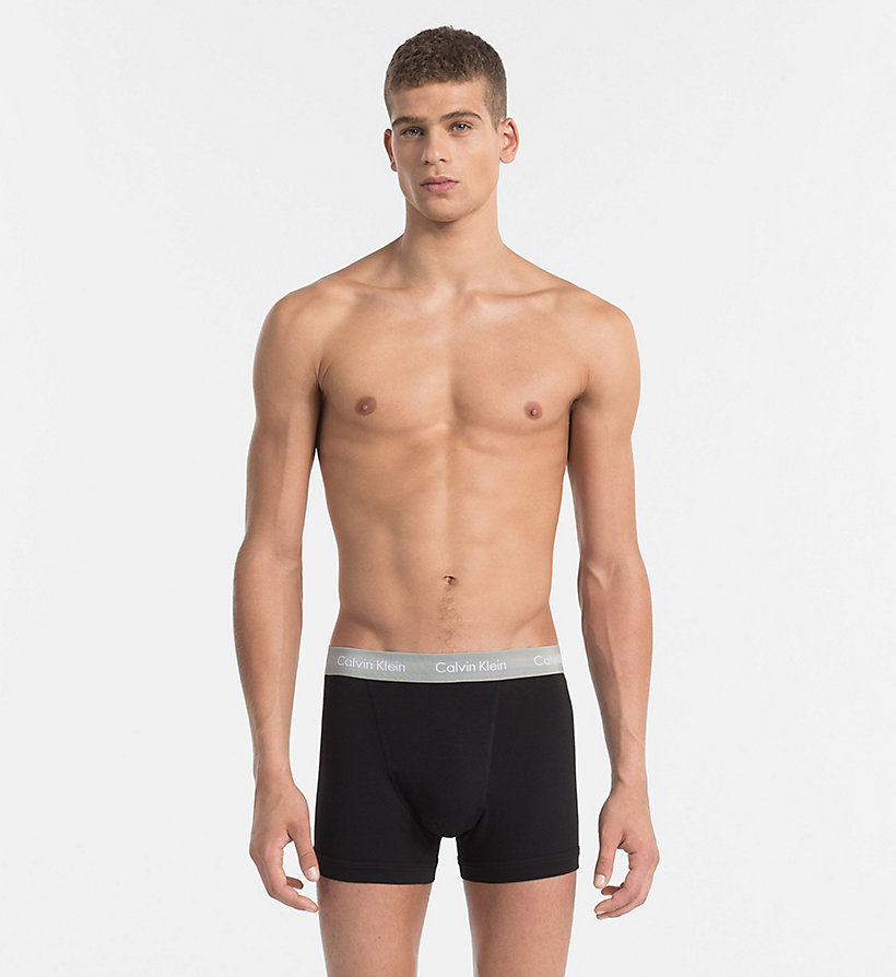 CALVINKLEIN 3 Pack Trunks - Cotton Stretch - BLACK W BLACK / DYLAN RED / HUNSTMAN WB - CALVIN KLEIN UNDERWEAR - detail image 3