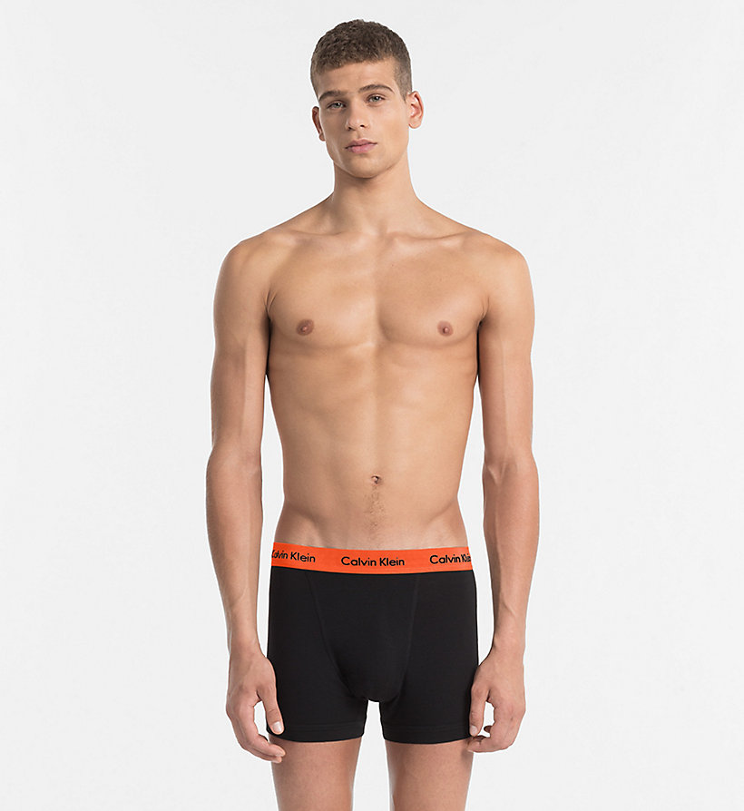 CALVINKLEIN 3 Pack Trunks - Cotton Stretch - BLACK - CALVIN KLEIN UNDERWEAR - detail image 2