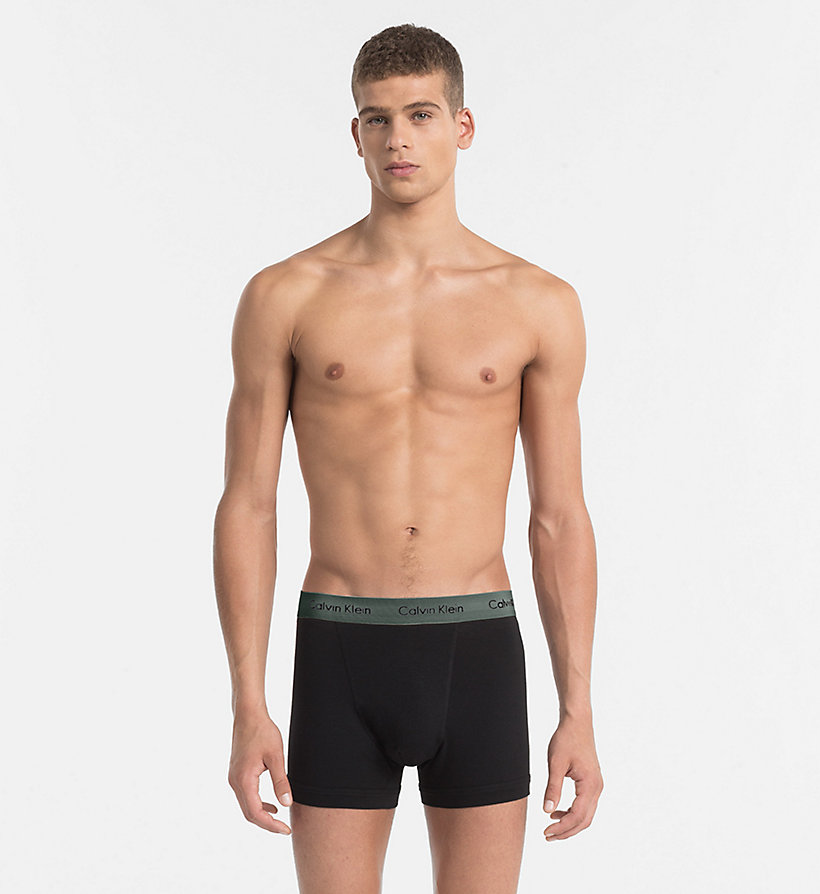 CALVINKLEIN 3 Pack Trunks - Cotton Stretch - BLACK - CALVIN KLEIN UNDERWEAR - detail image 3