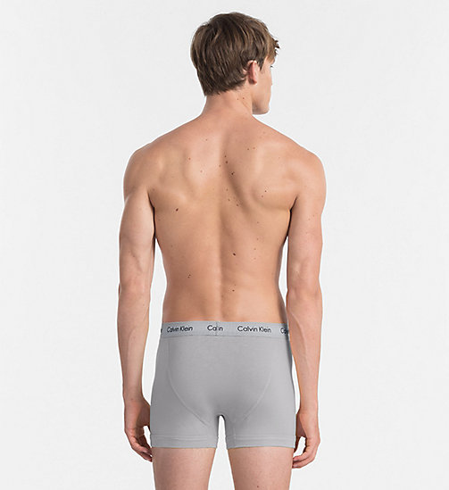 CALVIN KLEIN 3 Pack Trunks - Cotton Stretch - SILVER LAKE/MONUMENT/PHEOBE - CALVIN KLEIN NEW FOR MEN - detail image 1