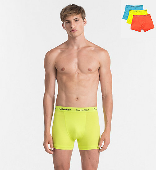 CALVINKLEIN 3 Pack Trunks - Cotton Stretch - REBEL / VIBRATION / BLUE JAY - CALVIN KLEIN TRUNKS - main image