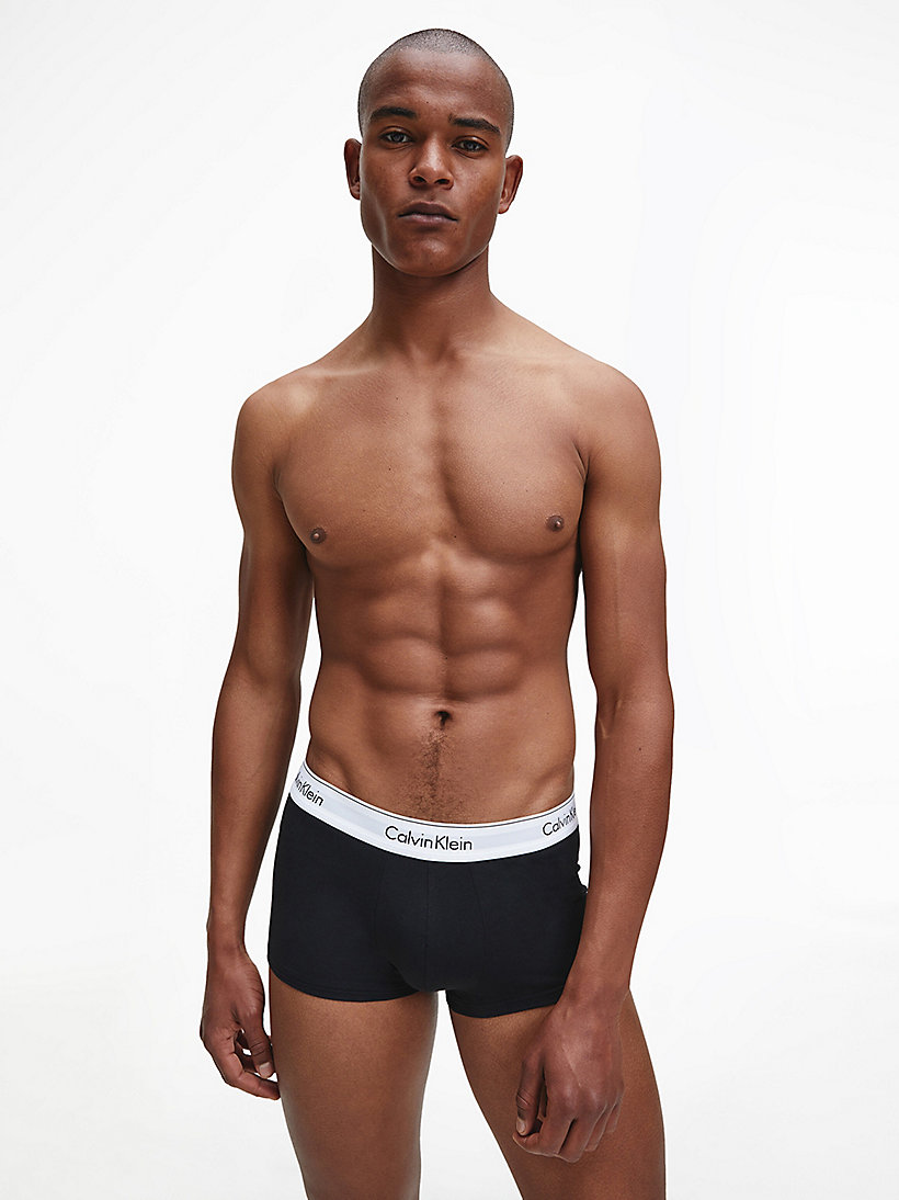 CALVINKLEIN 3 Pack Low Rise Trunks - Cotton Stretch - BLACK - CALVIN KLEIN UNDERWEAR - detail image 1