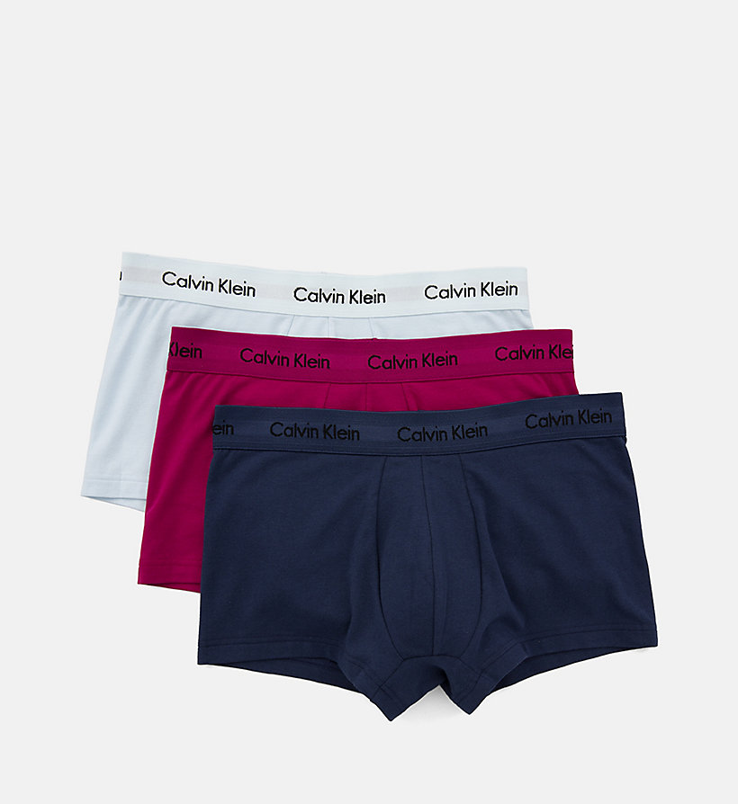 CALVIN KLEIN Lot de 3 boxers - Cotton Stretch - FOREST NIGHT/ DARK NIGHT/ S ORANGE - CALVIN KLEIN SOUS-VÊTEMENTS - image détaillée 4