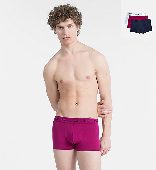 CALVIN KLEIN 3 Pack Trunks - Cotton Stretch - PRESIDENTAL BLUE/MAGGIE/VENT - CALVIN KLEIN ALL GIFTS - main image
